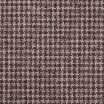 ウール&ポリエステル×チェック(サーモンピンク)×千鳥格子_全3色 サムネイル1