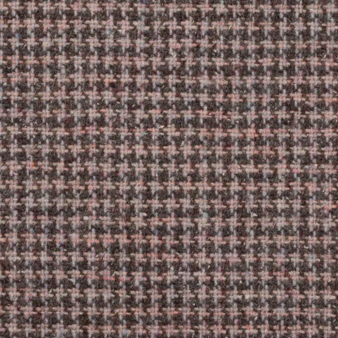 ウール&ポリエステル×チェック(サーモンピンク)×千鳥格子_全3色 イメージ1