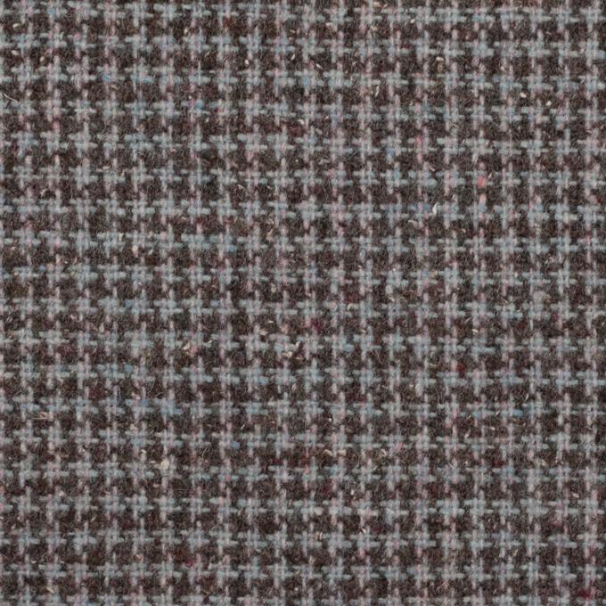 ウール&ポリエステル×チェック(ブルーグレー)×千鳥格子_全3色 イメージ1