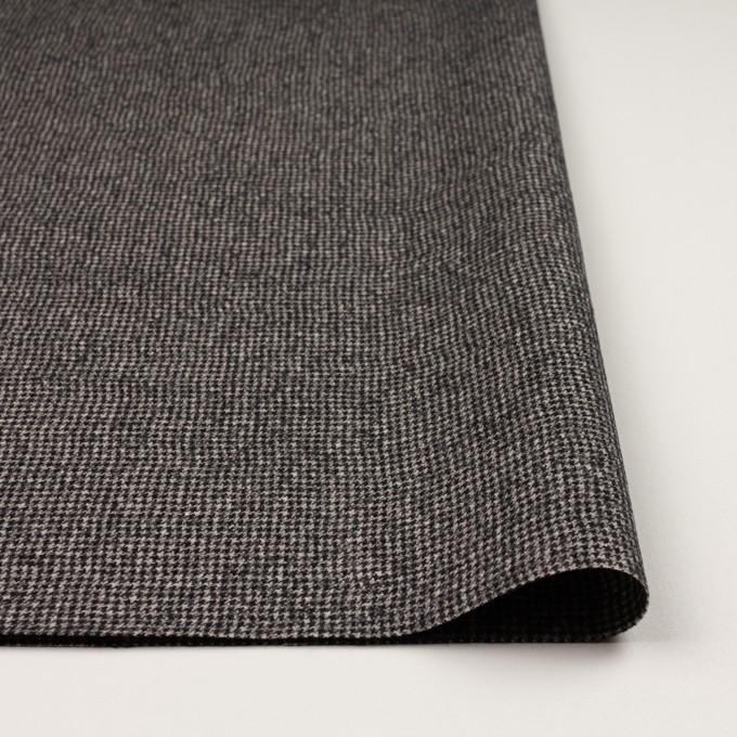 ウール×チェック(ブラック&エクリュ)×千鳥格子 イメージ3