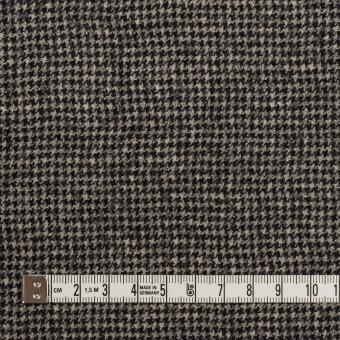 ウール×チェック(ブラック&エクリュ)×千鳥格子 サムネイル4