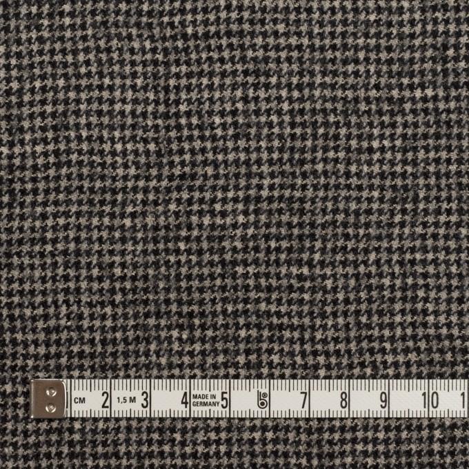 ウール×チェック(ブラック&エクリュ)×千鳥格子 イメージ4