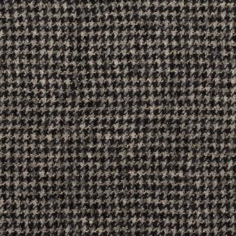 ウール×チェック(ブラック&エクリュ)×千鳥格子 サムネイル1