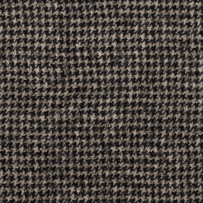 ウール×チェック(ブラック&エクリュ)×千鳥格子 イメージ1