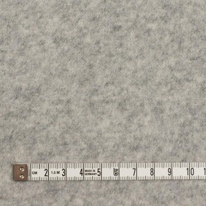 アクリル&ウール混×無地(ライトグレー)×W天竺ニット イメージ4