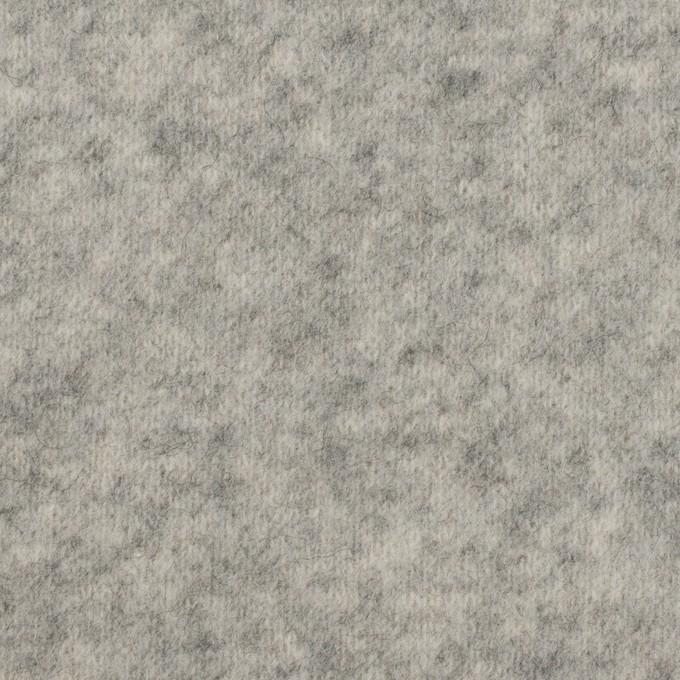 アクリル&ウール混×無地(ライトグレー)×W天竺ニット イメージ1