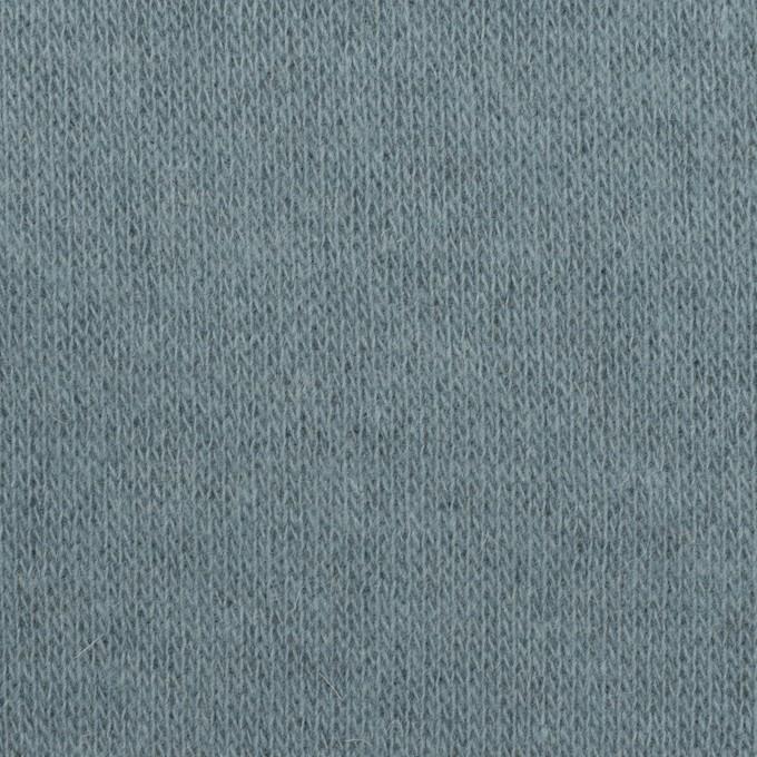 ウール×無地(サックスグレー&チャコールグレー)×W天竺ニット イメージ1