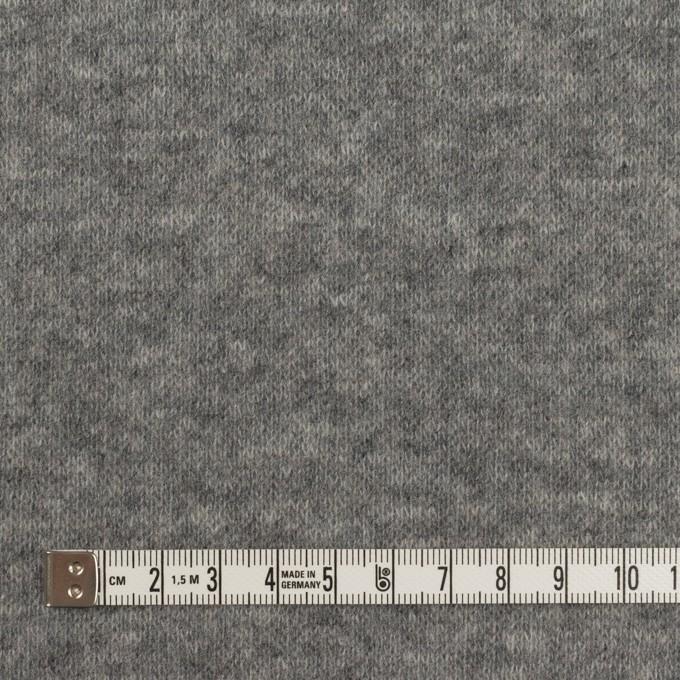 ウール×無地(サックスグレー&チャコールグレー)×W天竺ニット イメージ6