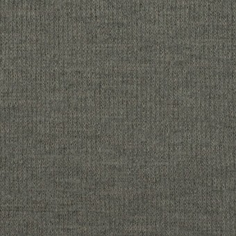 ウール&コットン×無地(セージグリーン)×W天竺ニット