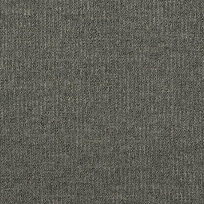 ウール&コットン×無地(セージグリーン)×W天竺ニット イメージ1