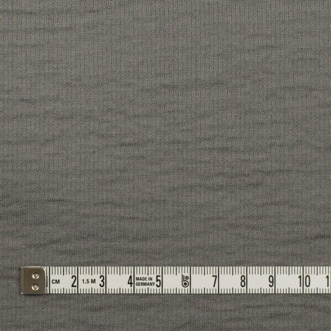ウール&コットン×無地(セージグリーン)×W天竺ニット イメージ6