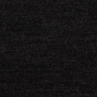 ウール&コットン×無地(チャコール)×W天竺ニット