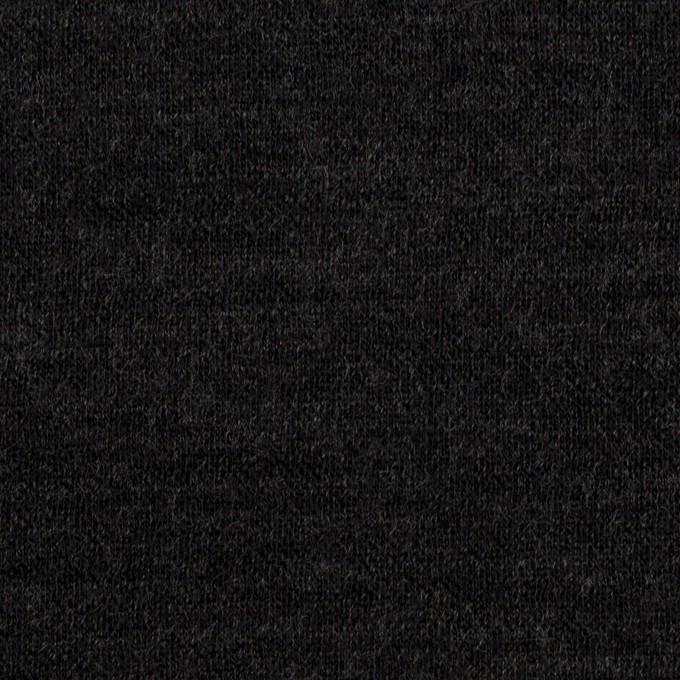 ウール&コットン×無地(チャコール)×W天竺ニット イメージ1