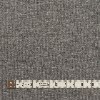 ウール&コットン×無地(チャコール)×W天竺ニット サムネイル6