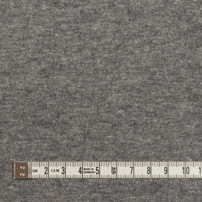 ウール&コットン×無地(チャコール)×W天竺ニット イメージ6