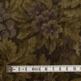 コットン×ボタニカル(グレイッシュパープル&カーキ)×ドビーコーデュロイ_全5色 サムネイル4