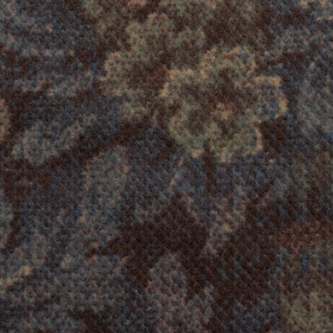 コットン×ボタニカル(レーズン&ブルーグレー)×ドビーコーデュロイ_全5色 イメージ1