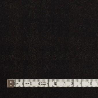 ウール&ポリエステル×チェック&無地(モカ、ブラック&レモン)×カルゼ(Wフェイス)_イタリア製 サムネイル6