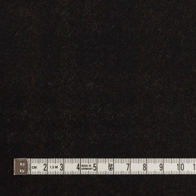 ウール&ポリエステル×チェック&無地(モカ、ブラック&レモン)×カルゼ(Wフェイス)_イタリア製 イメージ6