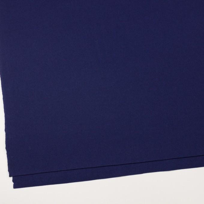 ウール×無地(マリンブルー)×フラノ(フランネル) イメージ2