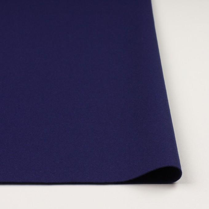 ウール×無地(マリンブルー)×フラノ(フランネル) イメージ3