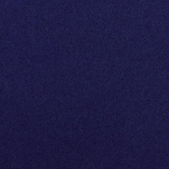 ウール×無地(マリンブルー)×フラノ(フランネル) イメージ1