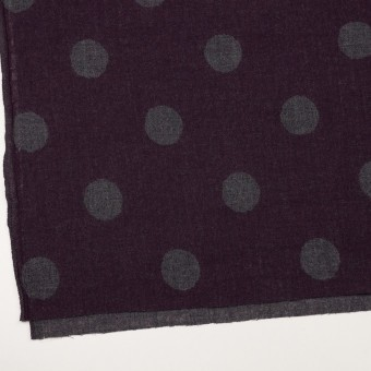 ウール×水玉(ボルドー&チャコールグレー)×Wガーゼ_全3色 サムネイル2