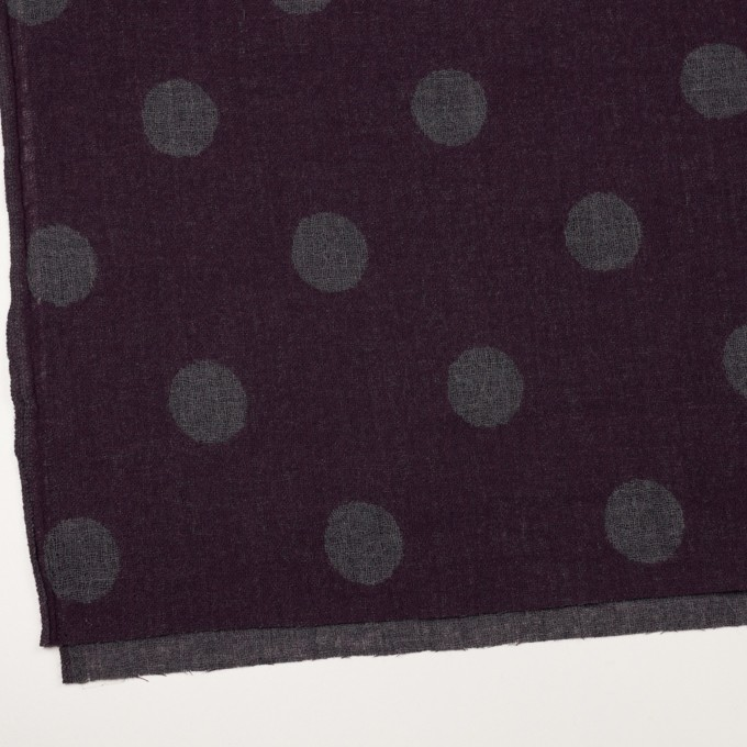ウール×水玉(ボルドー&チャコールグレー)×Wガーゼ_全3色 イメージ2