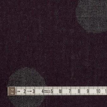 ウール×水玉(ボルドー&チャコールグレー)×Wガーゼ_全3色 サムネイル4