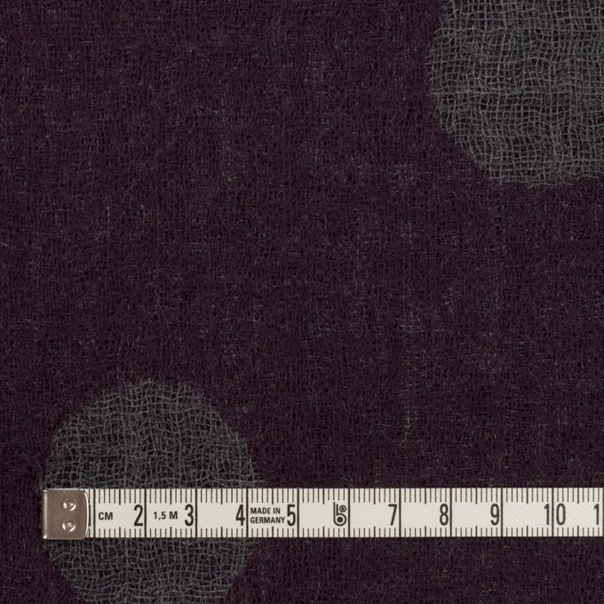 ウール×水玉(ボルドー&チャコールグレー)×Wガーゼ_全3色 イメージ4