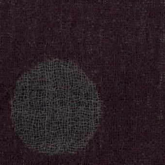 ウール×水玉(ボルドー&チャコールグレー)×Wガーゼ_全3色 サムネイル1