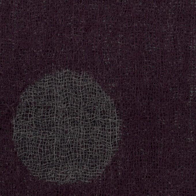 ウール×水玉(ボルドー&チャコールグレー)×Wガーゼ_全3色 イメージ1