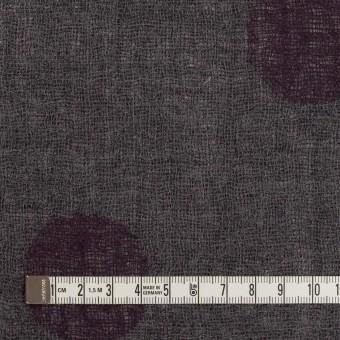 ウール×水玉(ボルドー&チャコールグレー)×Wガーゼ_全3色 サムネイル6
