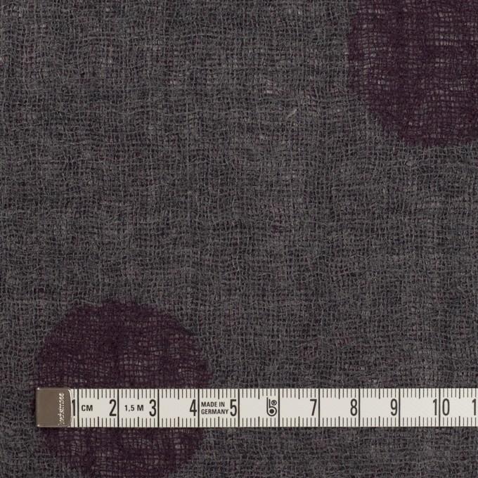 ウール×水玉(ボルドー&チャコールグレー)×Wガーゼ_全3色 イメージ6