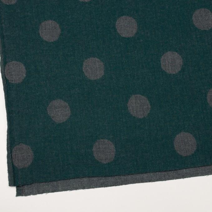ウール×水玉(モスグリーン&チャコールグレー)×Wガーゼ_全3色 イメージ2