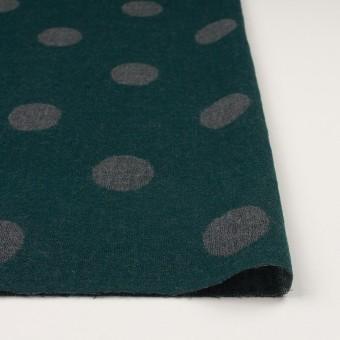 ウール×水玉(モスグリーン&チャコールグレー)×Wガーゼ_全3色 サムネイル3