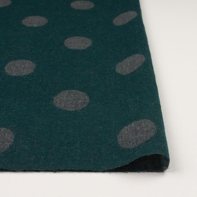 ウール×水玉(モスグリーン&チャコールグレー)×Wガーゼ_全3色 イメージ3