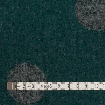 ウール×水玉(モスグリーン&チャコールグレー)×Wガーゼ_全3色 サムネイル4