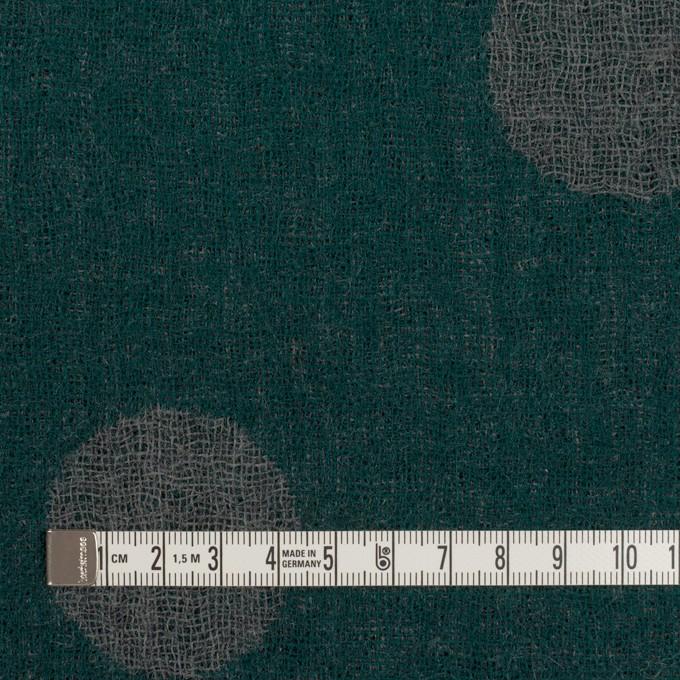 ウール×水玉(モスグリーン&チャコールグレー)×Wガーゼ_全3色 イメージ4