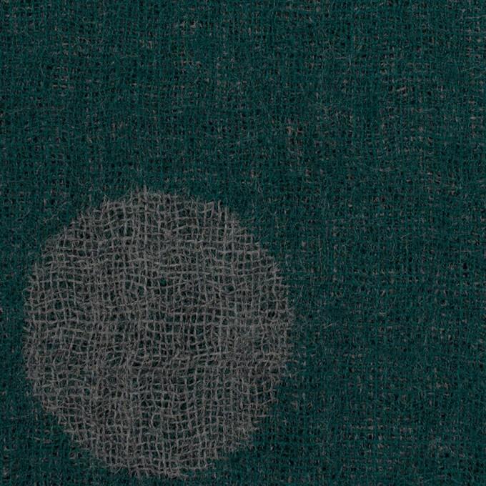 ウール×水玉(モスグリーン&チャコールグレー)×Wガーゼ_全3色 イメージ1