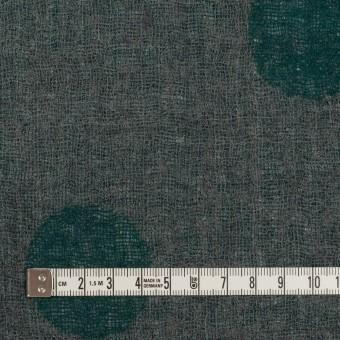 ウール×水玉(モスグリーン&チャコールグレー)×Wガーゼ_全3色 サムネイル6