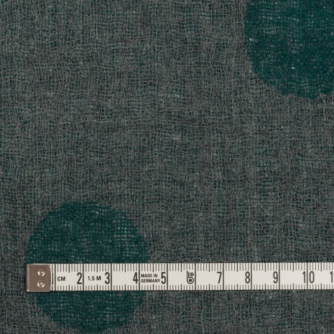 ウール×水玉(モスグリーン&チャコールグレー)×Wガーゼ_全3色 イメージ6