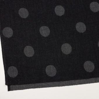 ウール×水玉(ブラック&チャコールグレー)×Wガーゼ_全3色 サムネイル2