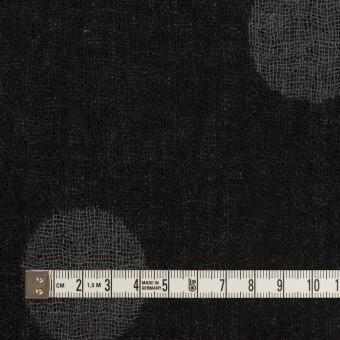 ウール×水玉(ブラック&チャコールグレー)×Wガーゼ_全3色 サムネイル4