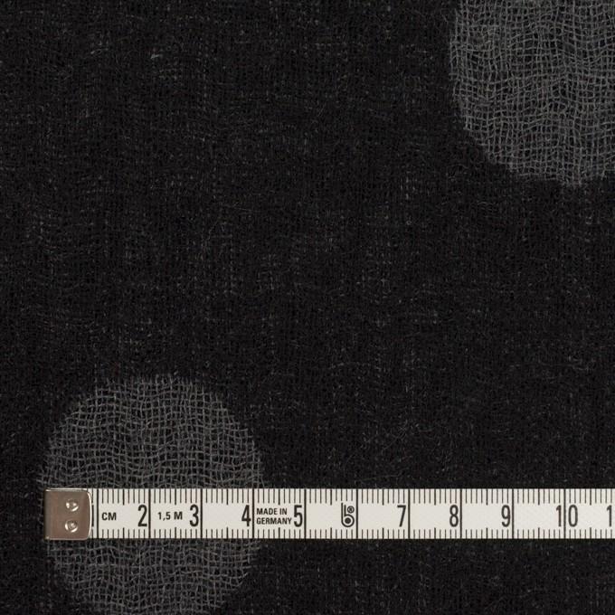 ウール×水玉(ブラック&チャコールグレー)×Wガーゼ_全3色 イメージ4