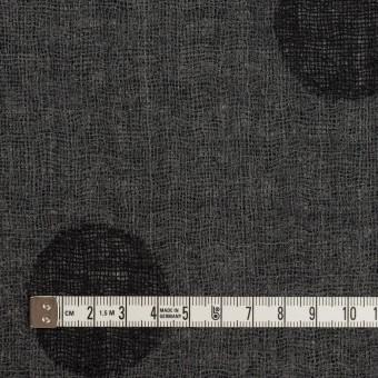 ウール×水玉(ブラック&チャコールグレー)×Wガーゼ_全3色 サムネイル6