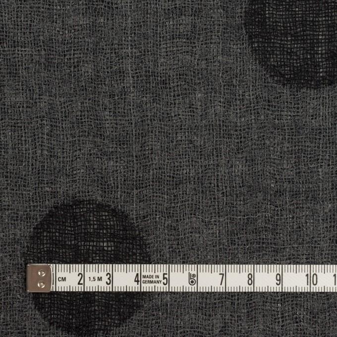 ウール×水玉(ブラック&チャコールグレー)×Wガーゼ_全3色 イメージ6