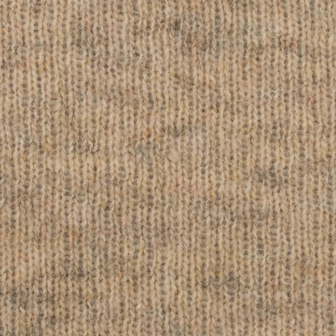 コットン&ウール混×無地(オートミール)×Wニット_全2色 イメージ1