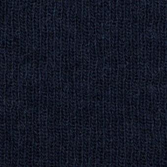 コットン&ウール混×無地(ネイビー)×Wニット_全2色 サムネイル1