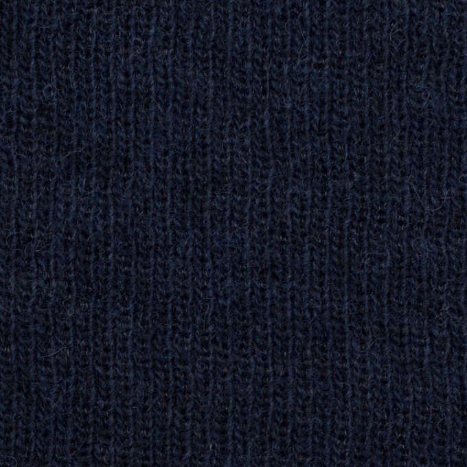 コットン&ウール混×無地(ネイビー)×Wニット_全2色 イメージ1
